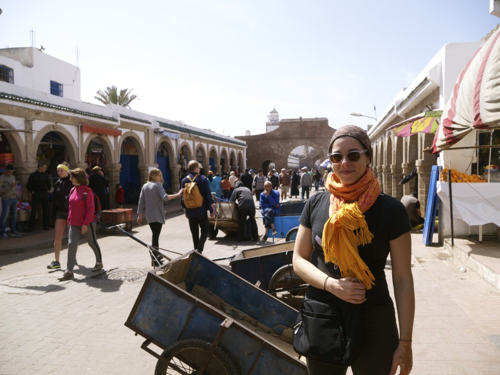 Marta On The Move in the heart of the Essaouira market in Morocco!